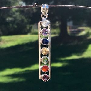 Jewelry - NEW Genuine gem chakra sterling pendant